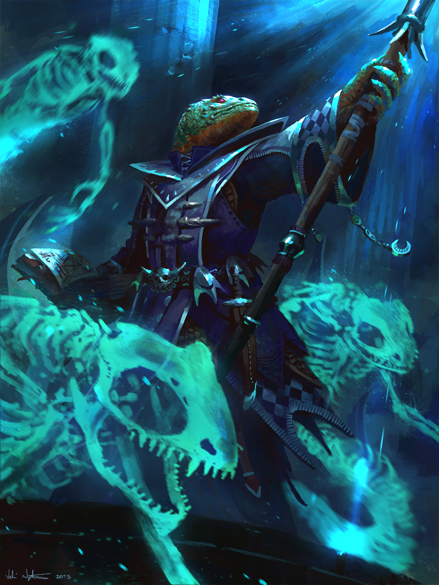 Lizardfolk Necromancer by Vablo