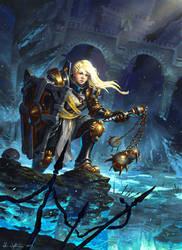 Female Crusader - Diablo III: Reaper of Souls by Vablo