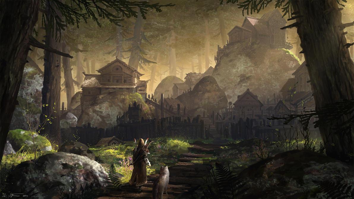 Forest Village by Vablo
