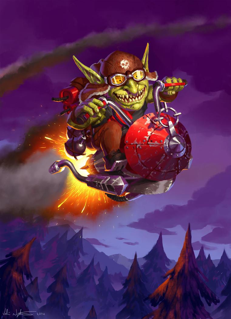 Goblin Rocket Rider - Goblins vs. Gnomes by Vablo