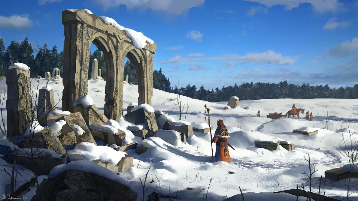 Winter Pilgrimage by Vablo