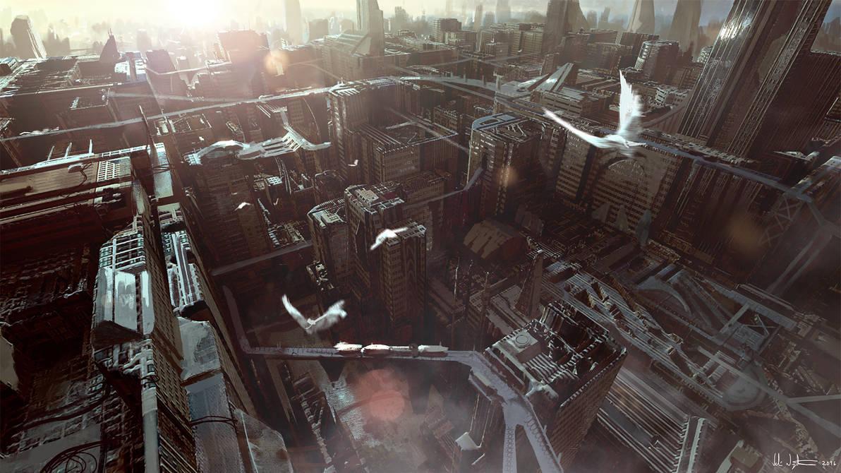 Scifi City by Vablo