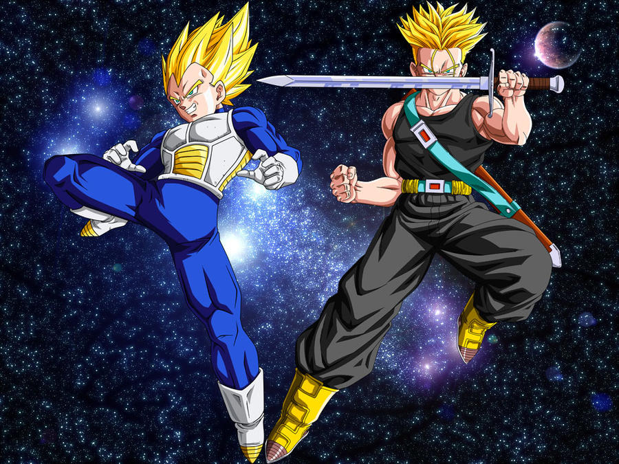 Dbz Vegeta And Trunks Wallpaper By Stylushadow On Deviantart