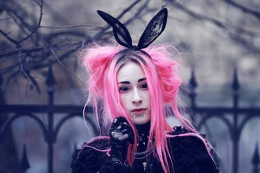 goth bunny by Disharmony19