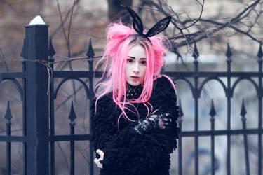 kawaii bunny goth by Disharmony19