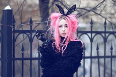 goth bunny smoker by Disharmony19