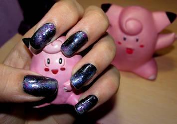 Galaxy Nails by Meowzzie