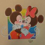 Mickey and Minnie Eskimo Kiss