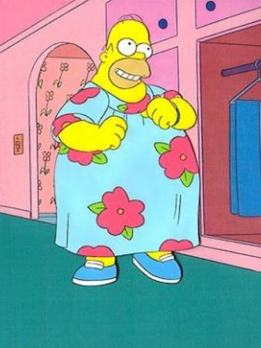 Homero Con Vestido Floreado By Discordwhoovesmlp On Deviantart