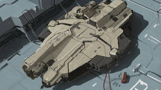Work in progress spaceship concept
