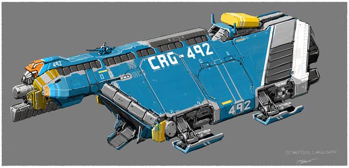 Small cargo spaceship.