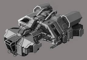 Infinity Battlescape - SFC bomber by Tinnenmannetje