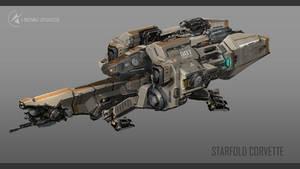 Infinity -  Starfold Corvette Final Concept by Tinnenmannetje