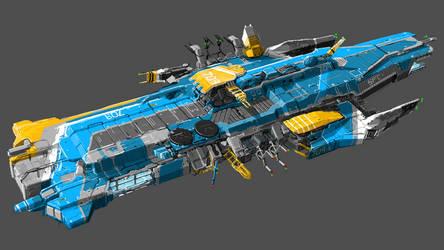 Infinity - Starfold Carrier concept by Tinnenmannetje