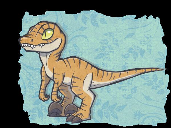 Chibi raptor by Chigle