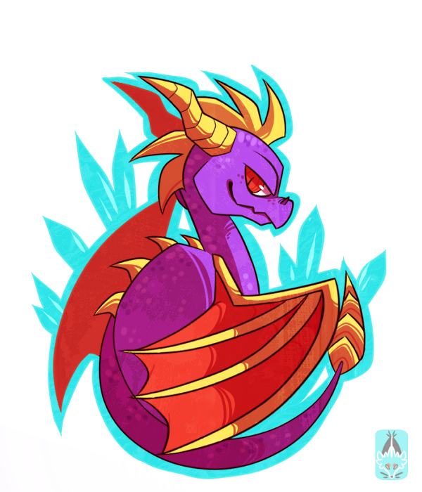 Purple dragon by Chigle