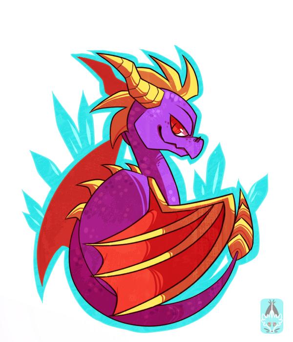 Purple dragon by Chigle