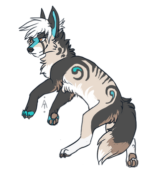 Wolf adopt - Yellow sand [close] by Akaii-Tsukii