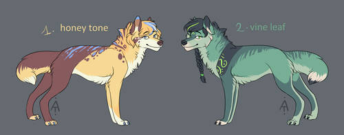 Wolves Adoptables #6 [OPEN] by Akaii-Tsukii