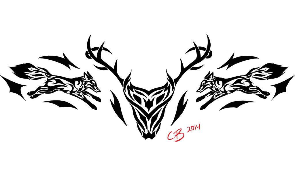 Tribal Deer Tattoo by Casey-Bemis on DeviantArt