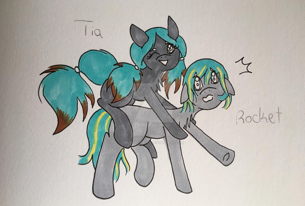 Tia and Rocket by MLPhistorian