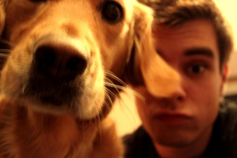 Funny Time With a Dog by Gaetan-Burckard