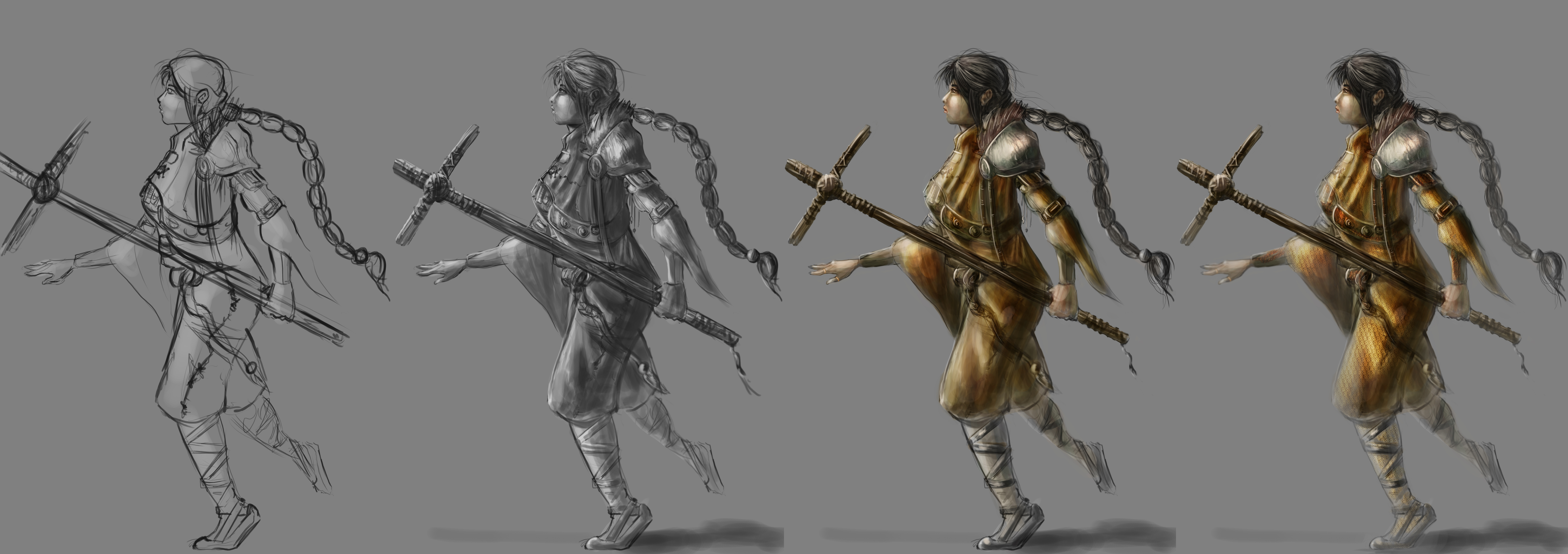 Character Concept Design Process : Process of character concept art creation by