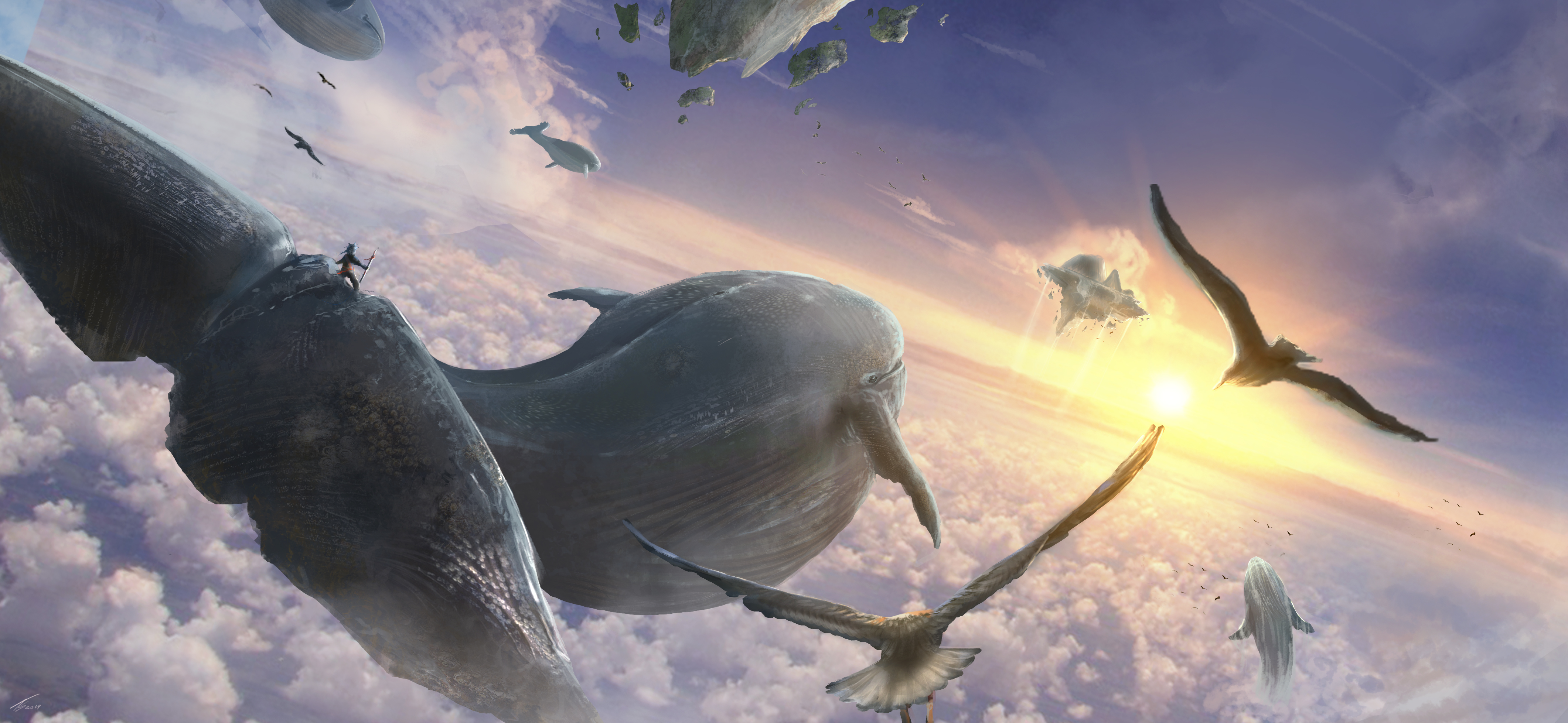 Flying Whales By Tiagosilverio On Deviantart