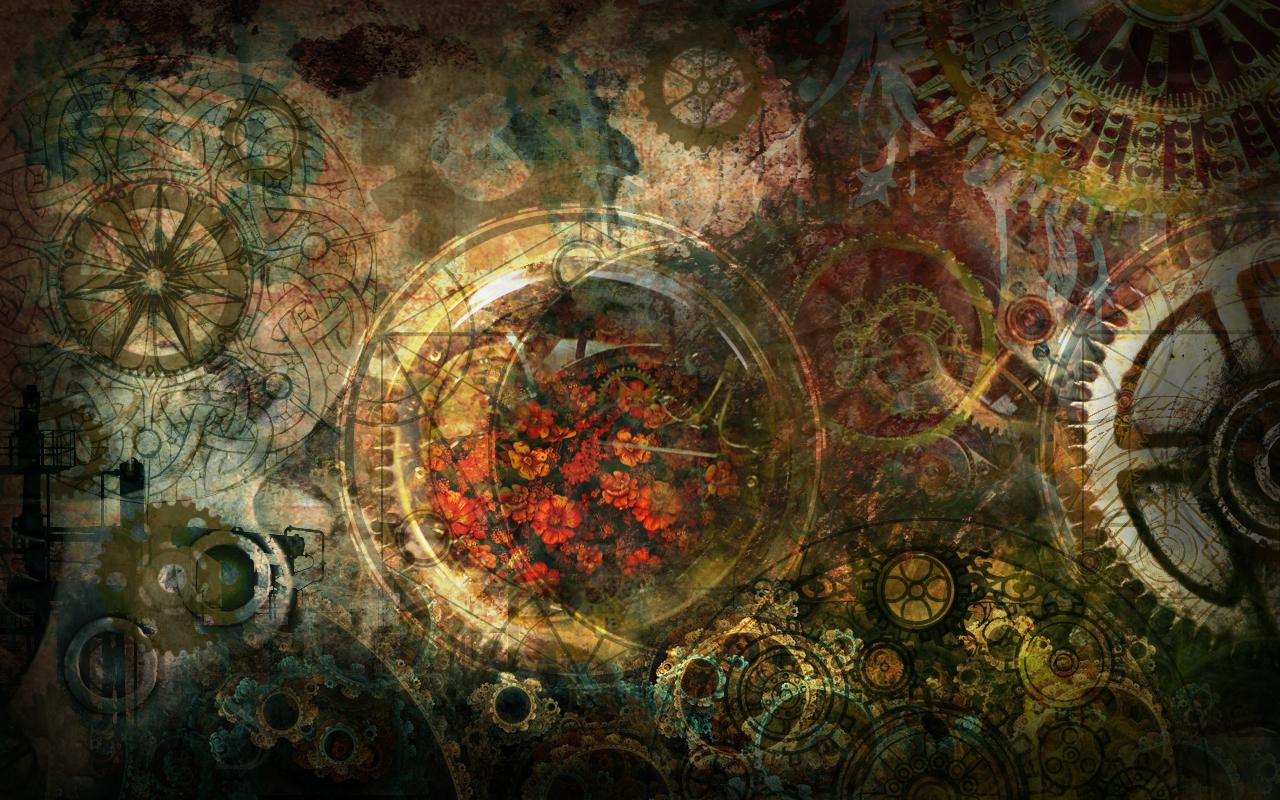 Steampunk Wallpaper Collage by Tarayue