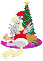 Have a Very Derpy Christmas by aquamarinedesign