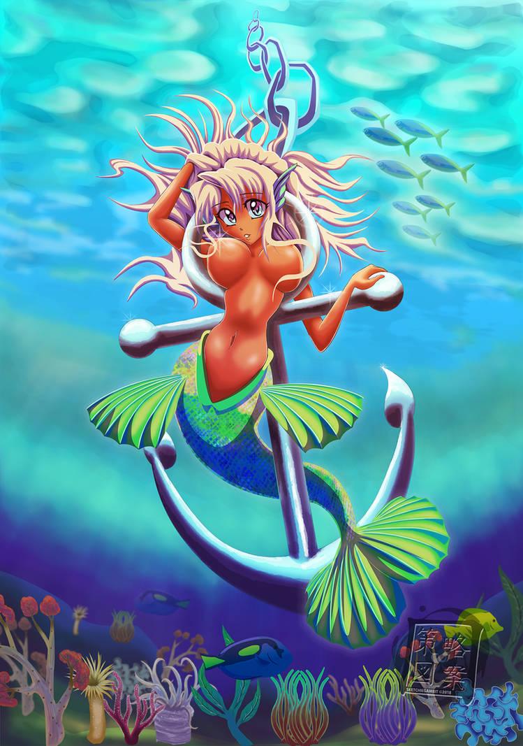 Mermaid Shiptease by sketchiegambit