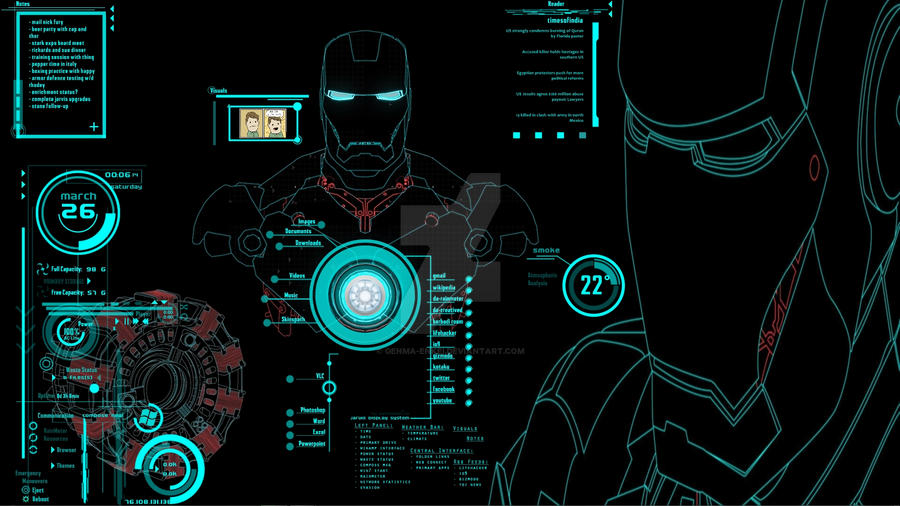 Jarvis interactive desktop by genma enkei on deviantart for Wallpaper interactivo