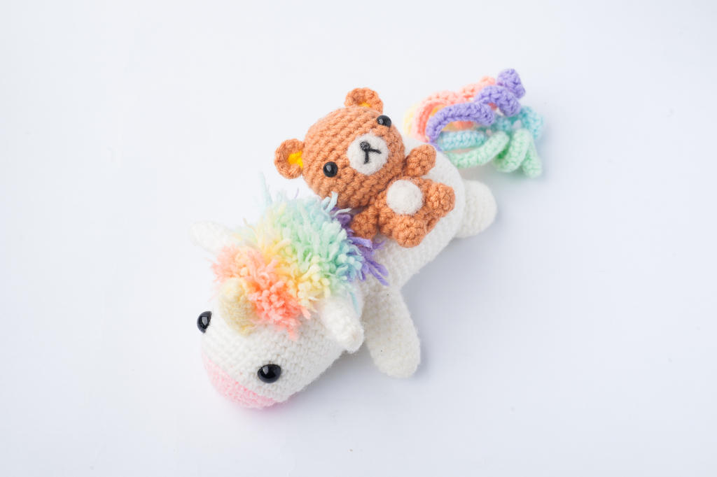 My rainbow unicorn amigurumi pattern - Amigurumipatterns.net | 682x1024