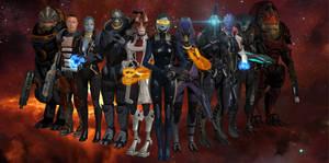Mass Effect My favorite squaddies