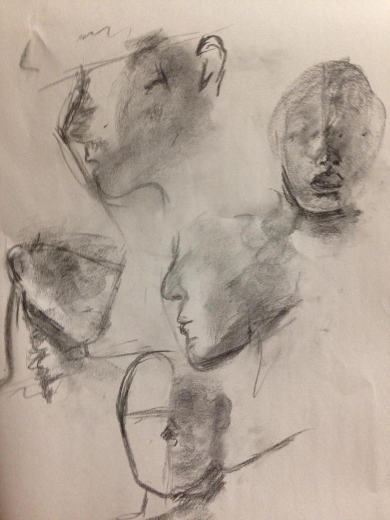 Face Portrait Studies 1 by SaturnSirene
