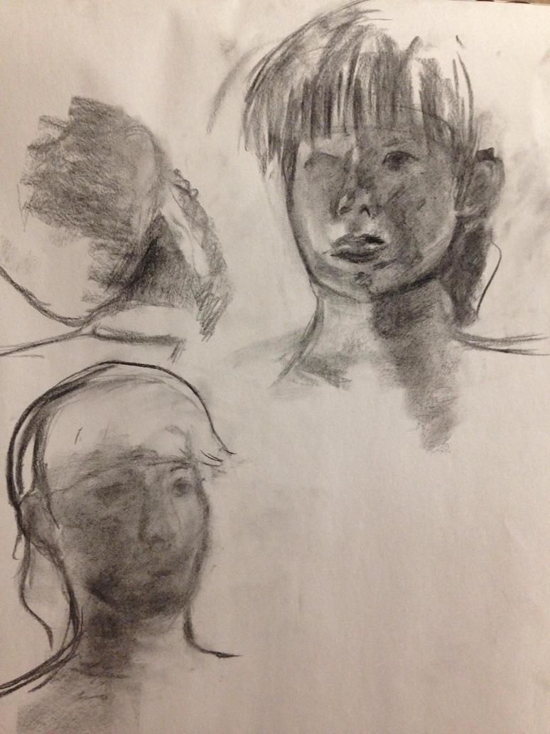 Face Portrait Studies 2 by SaturnSirene