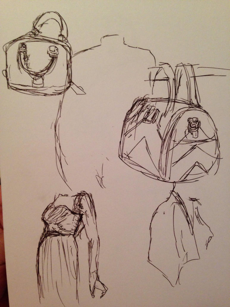 some purses and a dress by SaturnSirene