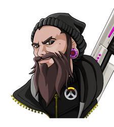 Overwatch- Custom Portrait For Xtal_TV by deventhorizon