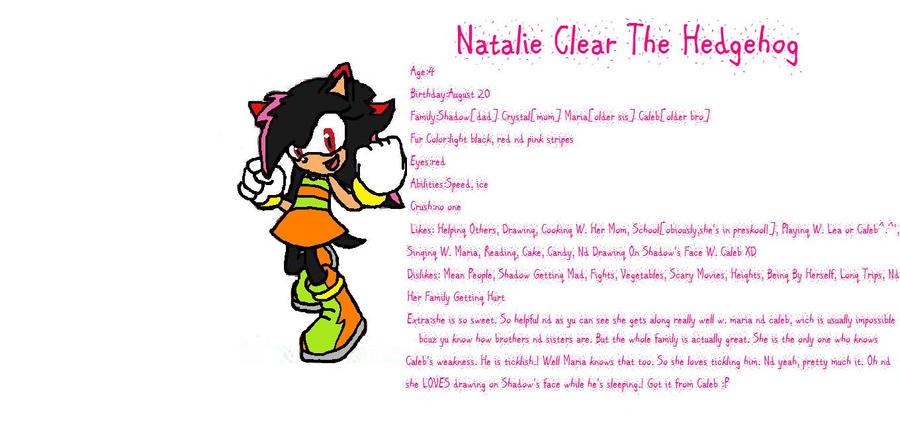 Natalie the hedge hog