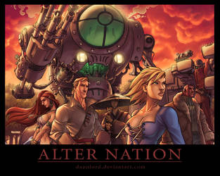 Alternation Pin-up Wallpaper by dannlord