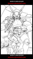 Appleseed Pin-up Lineart