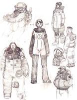 Astronauts by redrobo