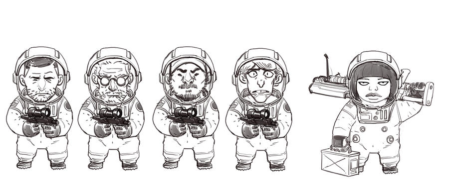 Tiny Astronauts by redrobo