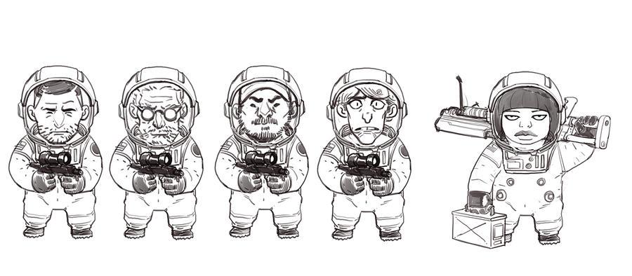 Tiny Astronauts by redrobo