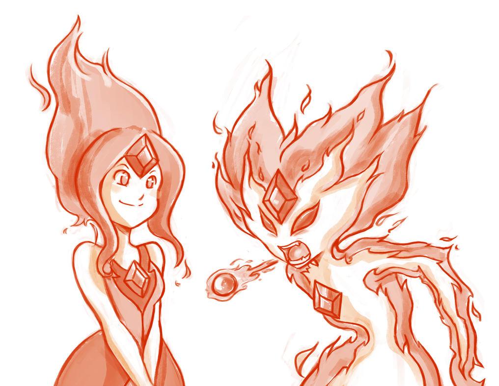 Adventure Time: Flame Princess sketch by Tamura