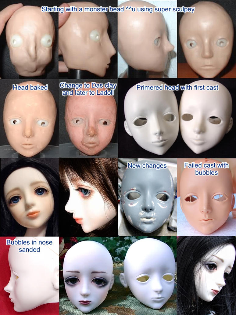 Bjd Nene head progress by runya-dim