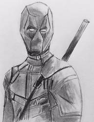 Deadpool in Graphite Pencil by CaptainEdwardTeague