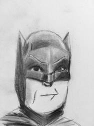 Adam West Batman Quick Sketch by CaptainEdwardTeague