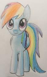 Rainbow Dash cute by CaptainEdwardTeague