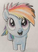 Rainbow Dash Filly by CaptainEdwardTeague